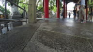 4K-timelapse : Wong tai sin temple , famous temple in Hong Kong