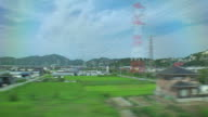 4K,View From bullet train window.Japan.