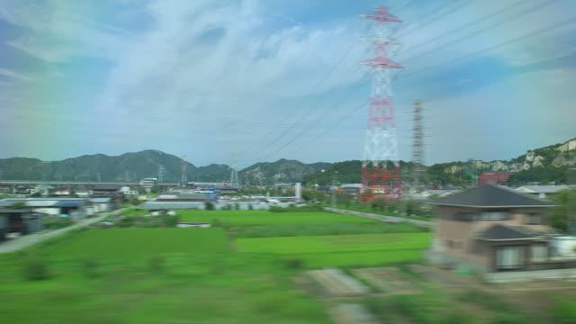 4K,View From bullet train window.Japan.