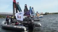 4th stage of Extreme Sailing Series starts in Cardiff United Kingdom and 8 competition organized on the first dayof the series on 18 June 2015