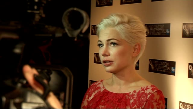 54th BFI London Film Festival interviews Michelle Williams speaking to press greeted by Cianfrance / General views Williams speaking to press...