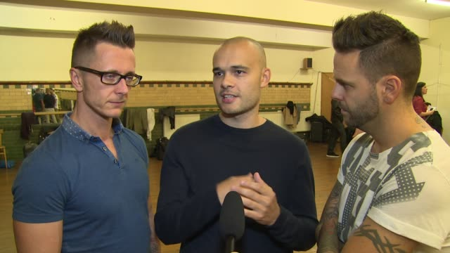 INTERVIEW 5ive on the upcoming tour favourite acts and inspirations at The Big Reunion Boy Band Tour rehearsals on 15th October 2014 in London England