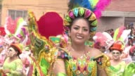 Bolivia's most important festivity the Oruro carnival lightens up the streets