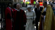 60th Anniversary of Queen's Coronation Westminster Abbey service Arrivals Queen and Prince Philip into Abbey