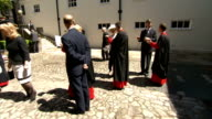 60th Anniversary of Queen's Coronation Westminster Abbey service Royal arrive for lunch ENGLAND London Deans Yard EXT Deans Yard / Sophie Countess of...