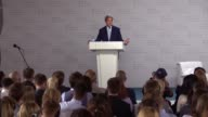 68th United States Secretary of State John Kerry makes a speech during his a public lecture 'Can diplomacy overcome the challenges of a new world'...