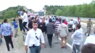 69yearold opposition Republican People's Party leader Kemal Kilicdaroglu fell and drifted briefly after he saw a group of people gathered to support...