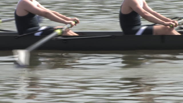 8-Man Rowing Team Race Close up