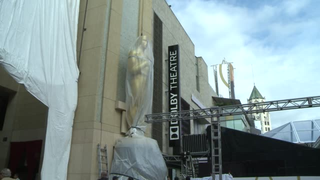 a few shots of the exteriors of the Dolby theater and rolling out the red carpet for the oscars