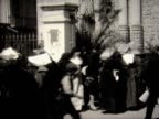 1928 a flock of nuns on a Bolivian street