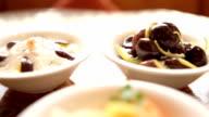a table of jordanian mezze in petra
