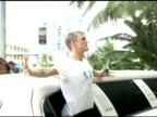 Aaron Carter at the Celebrity Sightings in Miami Beach on August 27 2005
