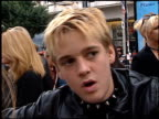 Aaron Carter at the 'Rugrats in Paris' Premiere at Grauman's Chinese Theatre in Hollywood California on November 5 2000