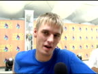 Aaron Carter where his brother is which artist he is most excited to see on his upcoming album and about changing his hair at the 2005 MTV Video...