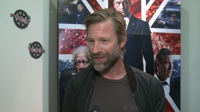 CLEAN Aaron Eckhart at 'London Has Fallen' Military Premiere At Vandenberg Air Force Base on February 27 2016 in Lompoc California