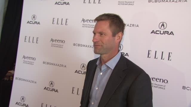 Aaron Eckhart at the 2011 Independent Spirit Awards Arrivals at Santa Monica CA