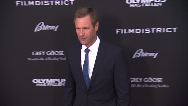 Aaron Eckhart at the 'Olympus Has Fallen' Los Angeles Premiere Aaron Eckhart at the 'Olympus Has Fallen' Los at The Dome at Arclight Hollywood on...