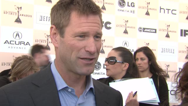 Aaron Eckhart on why he will not be attending the Oscars at the Piaget At The 2011 Independent Spirit Awards at Santa Monica CA