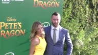 Aaron Jackson Lauren Shaw at the Premiere Of Disney's Pete's Dragon at El Capitan Theatre in Hollywood in Celebrity Sightings in Los Angeles