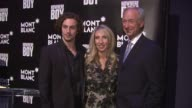 Aaron Johnson Sam TaylorWood and Lutz Bethge at the Global Launch Of The Montblanc John Lennon Edition at New York NY