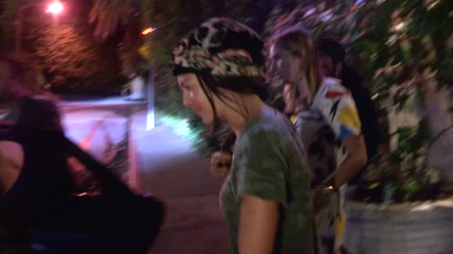 Aaron Paul Lauren Parsekian Jessica Szohr departing Chateau Marmont in West Hollywood in Celebrity Sightings in Los Angeles