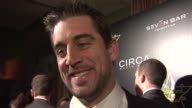 Aaron Rodgers on what brings him out and playing domino's in the locker room at the 4th Annual Hollywood Domino Gala at West Hollywood CA