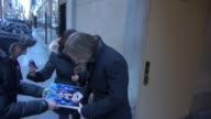 Aaron Stanford leaves the TODAY show signs and poses for photos with fans in Celebrity Sightings in New York
