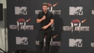 SPEECH Aaron TaylorJohnson at the 2014 MTV Movie Awards at Nokia Theatre LA Live on April 13 2014 in Los Angeles California