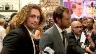 Aaron TaylorJohnson Jude Law at Anna Karenina World Premiere Anna Karenina World Premiere at Odeon Leicester Square on September 04 2012 in London...
