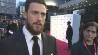 INTERVIEW Aaron TaylorJohnson on working with Tom Ford his character the plot love story the cast at LFF Nocturnal Animals official screening at...