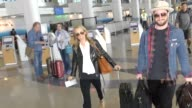 Aaron TaylorJohnson Sam TaylorJohnson departing at LAX Airport in Los Angeles in Celebrity Sightings in Los Angeles
