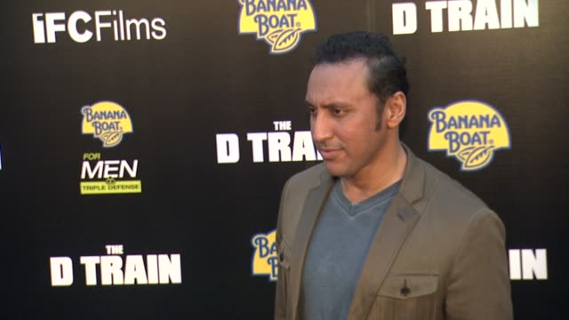 Aasif Mandvi at 'The D Train' Los Angeles Premiere at ArcLight Cinemas on April 27 2015 in Hollywood California