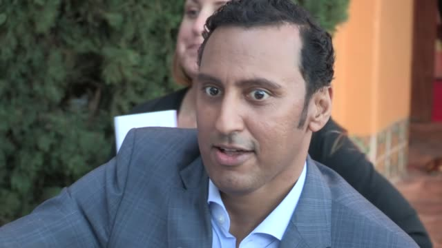Aasif Mandvi greets fans at The Internship Premiere in Westwood 05/29/13