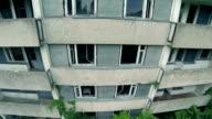 Abandoned building aerial shot