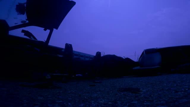Abandoned car at the junkyard