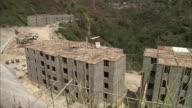 WS HA Abandoned construction of apartment buildings in hills above Caracas / Caracas, Miranda, Venezuela