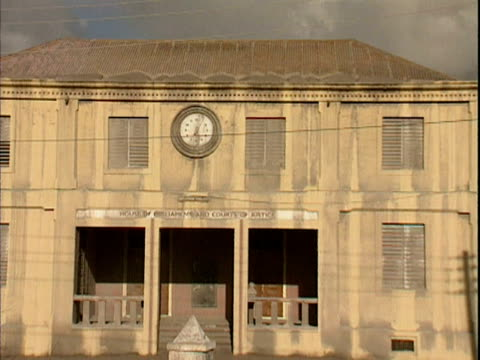 Abandoned court building in Plymouth Montserrat following the volcanic eruption of July 1997