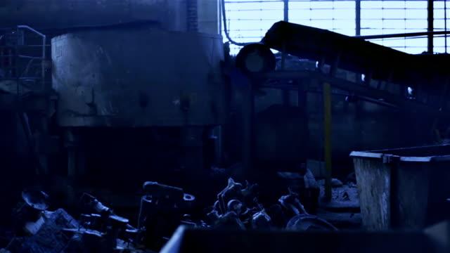 Abandoned factory. Scary background