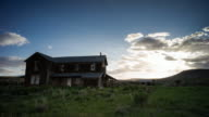 Abandoned Farmhouse. Time-lapse through Oregon