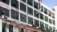 Abandoned industrial building factory in Detroit, Michigan