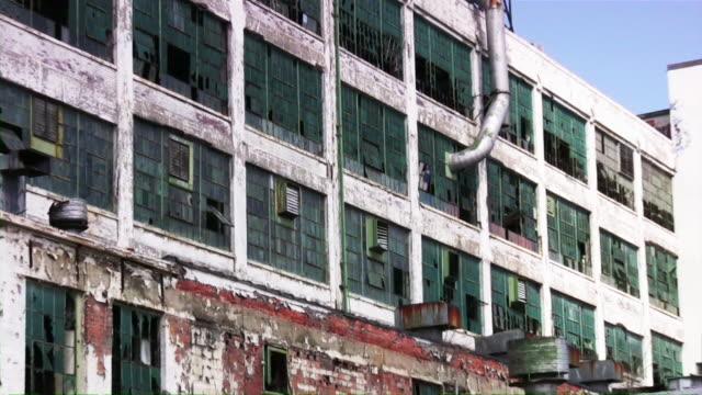 Abbandonato edificio industriale fabbrica di Detroit, Michigan