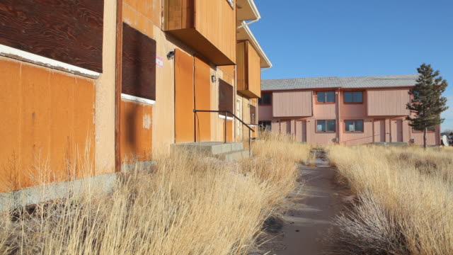 abandoned townhouses