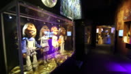 Abba puppers on display at the Abba Museum in Stockholm Sweden on October 7 Wide shots and close ups of four Abba puppets Close up of a disco...