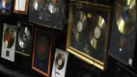 Abba records and awards on display at the Abba Museum in Stockholm Sweden on October 7 Close up of Abba record 'The Visitors' Close ups focusing in...