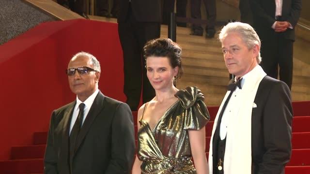Abbas Kiarostami Juliette Binoche and William Shimell at the Copie Conforme Red Carpet Cannes Film Festival 2010 at Cannes
