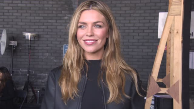 Abbey Clancy at Hunter Original SS16 at Euston Station Parcel Deck on September 19 2015 in London England