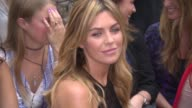 Abbey Clancy at Julien Macdonald SS15 on September 13 2014 in London England