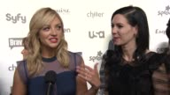 INTERVIEW Abby Elliott and Jill Kargman talk about Odd Mom Out on Bravo at NBCUniversal Cable Entertainment Upfront 2015 at The Jacob K Javits...