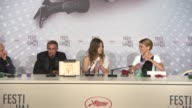 SPEECH Abdellatif Kechiche Adle Exarchopoulos LŽa Seydoux at Cannes Winners Reactions on 5/26/13 in Cannes France