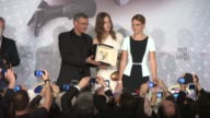 Abdellatif Kechiche Adle Exarchopoulos LŽa Seydoux at Cannes Winners Reactions on 5/26/13 in Cannes France